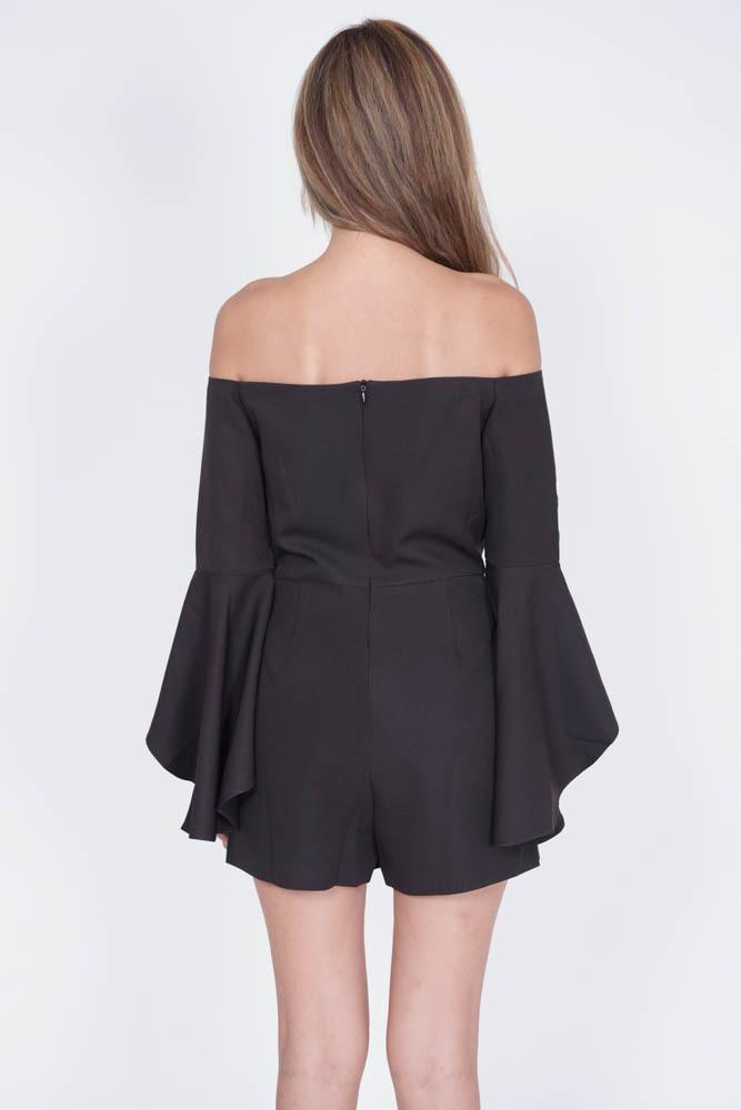 Davido Romper in Black