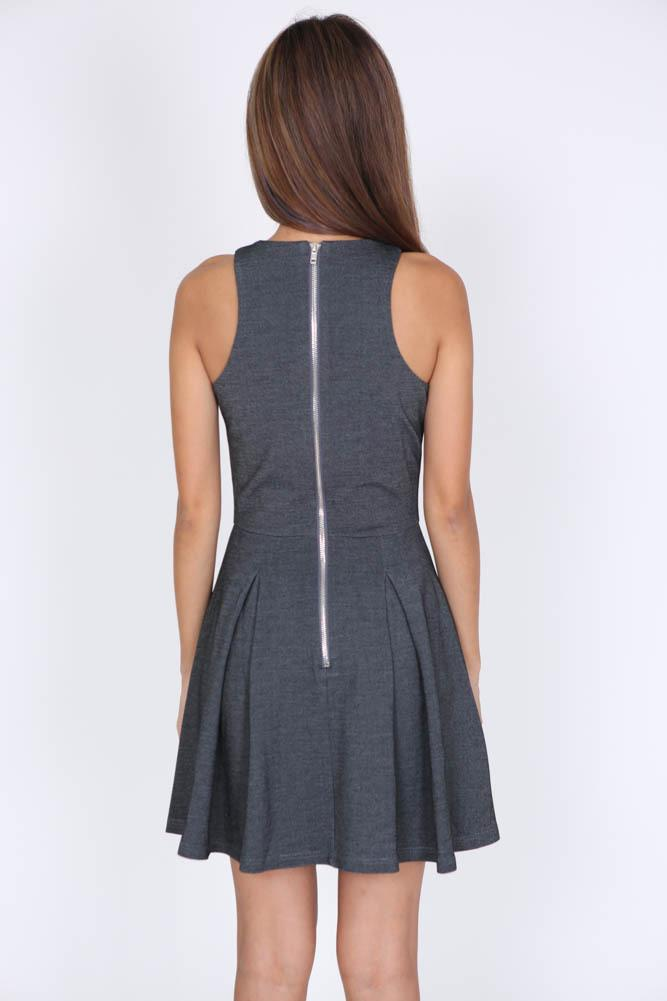 Liza Dress in Grey