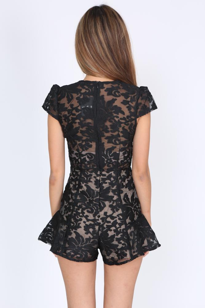 Staphanie Romper in Black