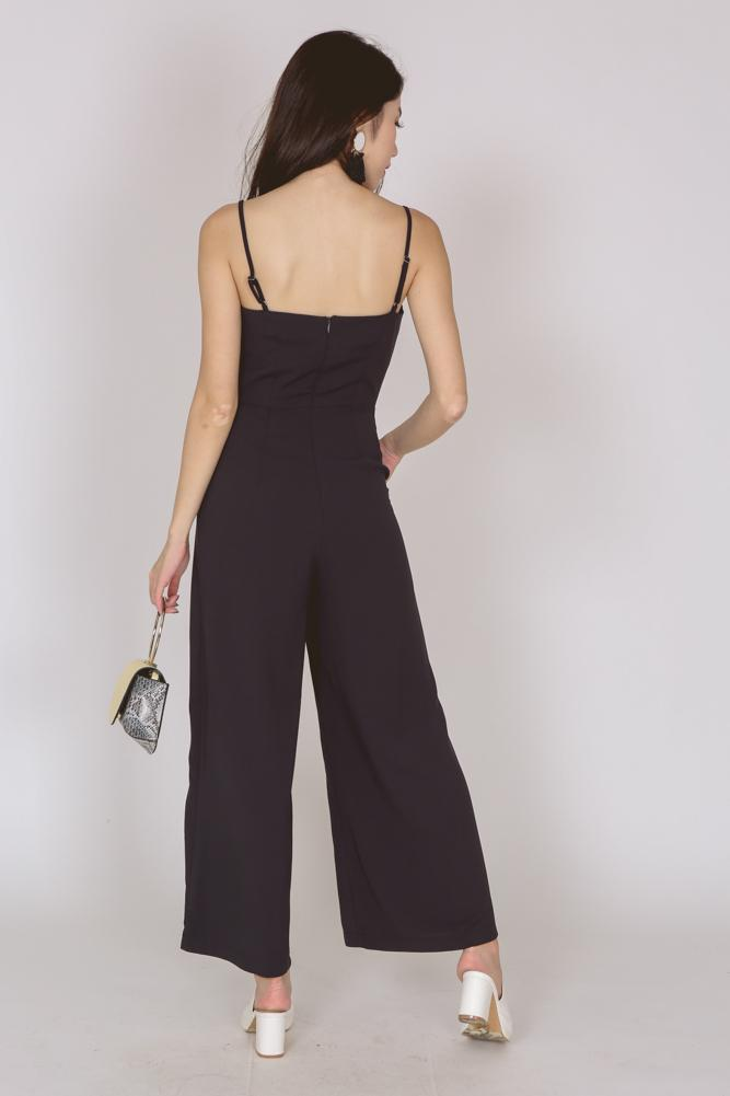 Contemporary Cami Jumpsuit in Midnight