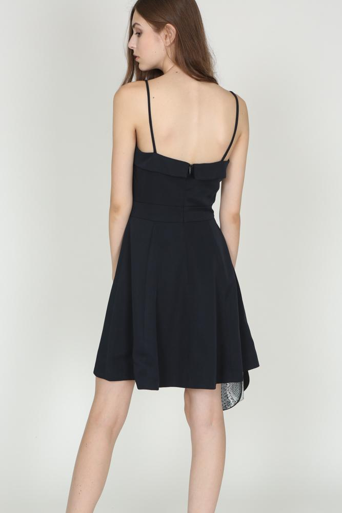 Flap-Over Cami Dress in Midnight