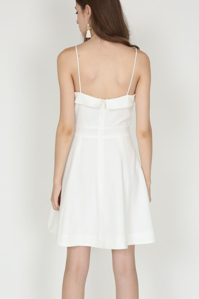 Flap-Over Cami Dress in White