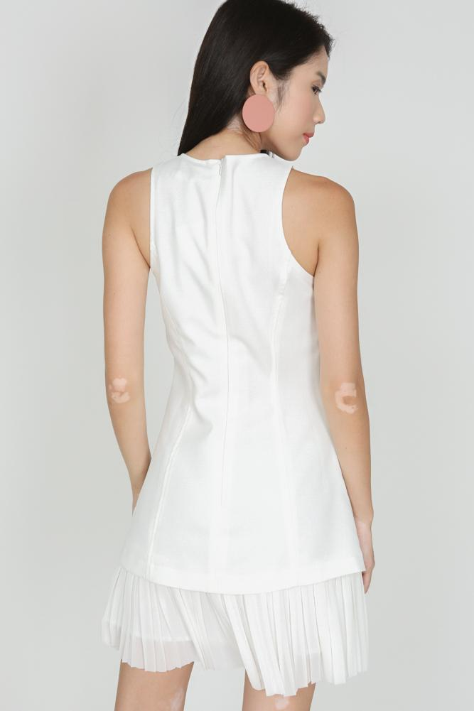 Mermaid Hem Dress in Ivory