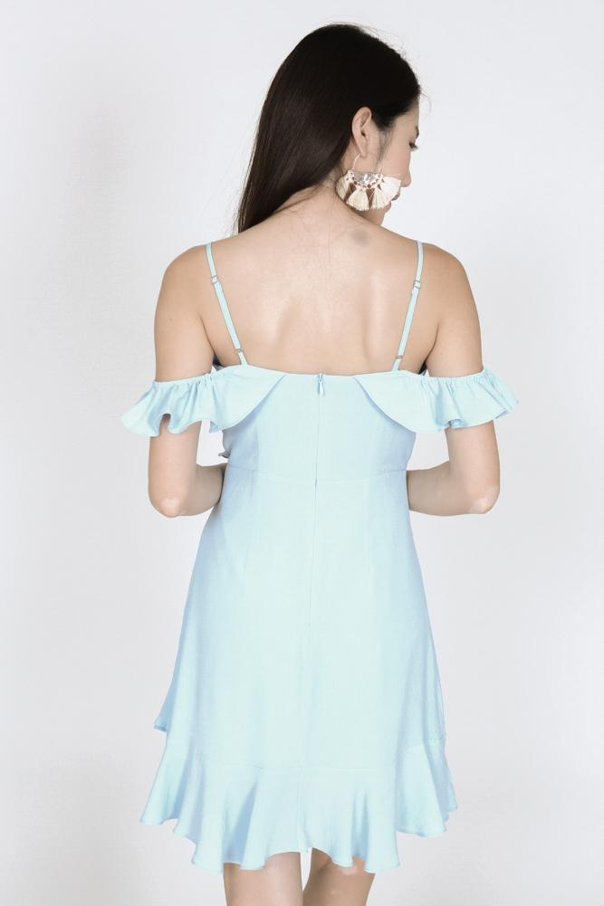 Frill Cami Dress in Powder Blue