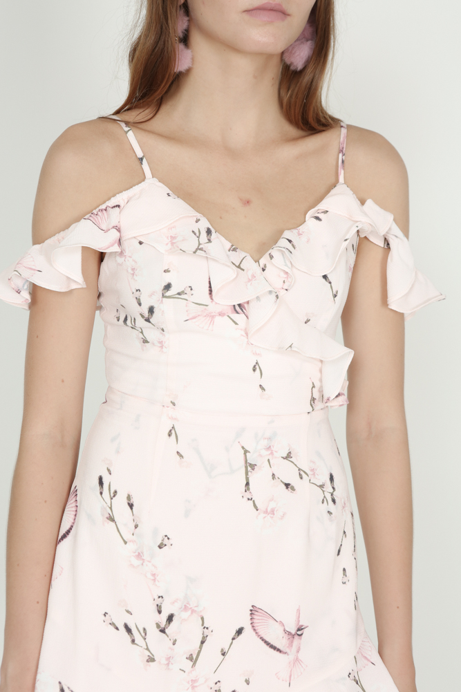 Frill Cami Dress in Pink Floral - Arriving Soon