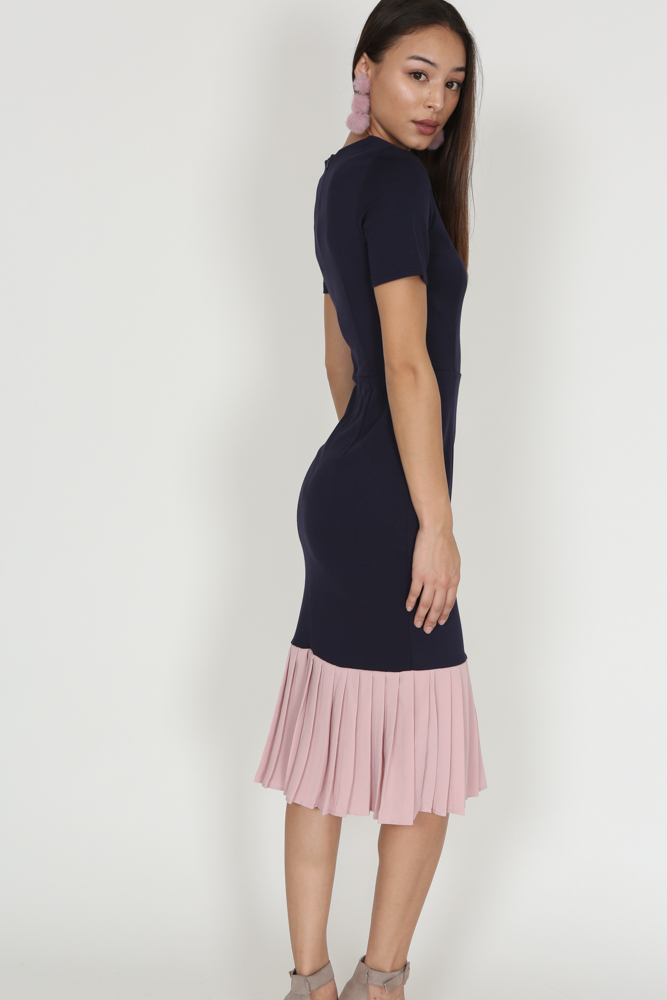 Two-Tone Dress in Navy - Arriving Soon