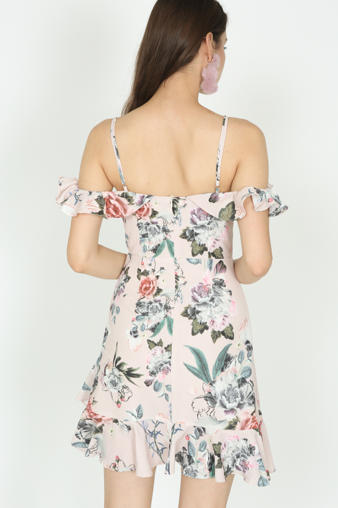 Frill Cami Dress in Blush Floral - Arriving Soon