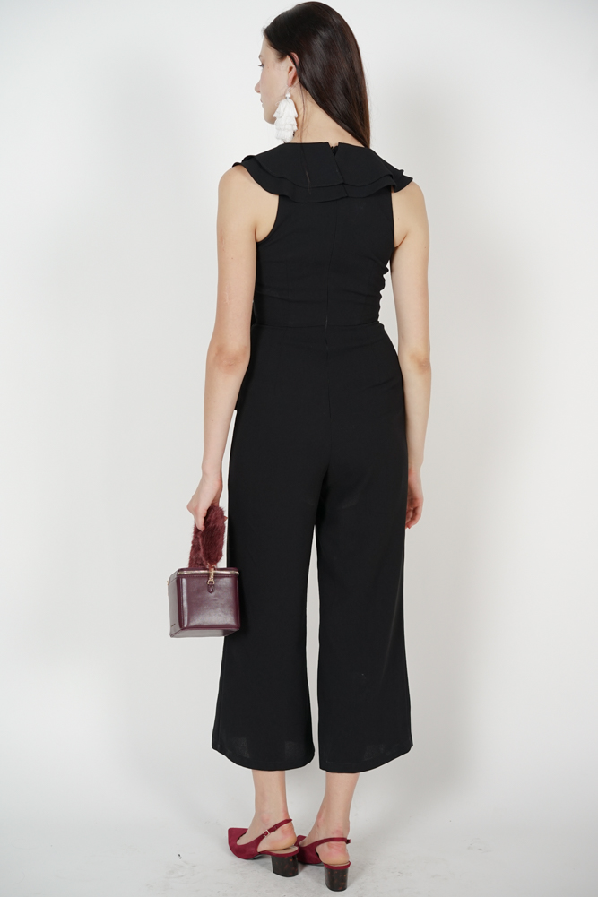 Frilly Jumpsuit in Black