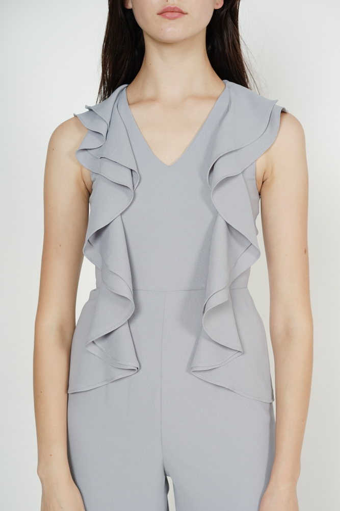 Frilly Jumpsuit in Grey