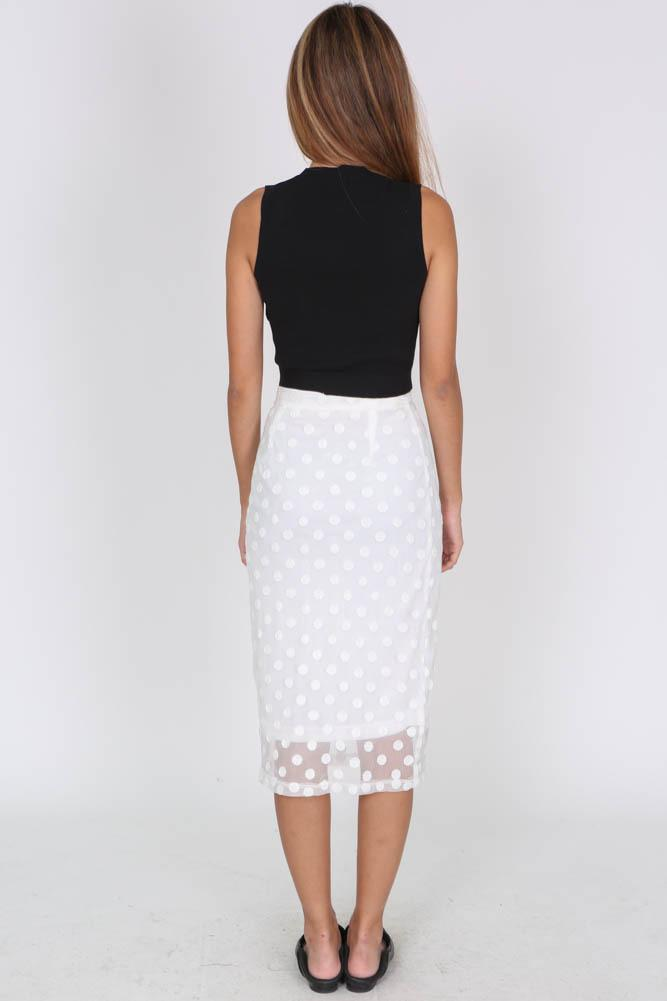 Dairelle Skirt in White