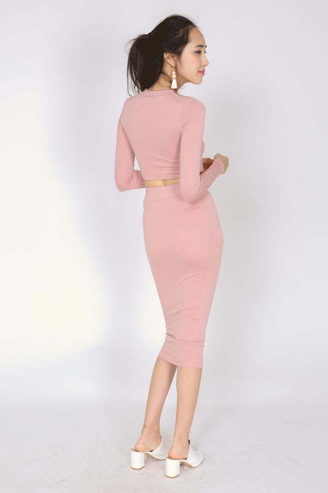 Bandage Bodycon Skirt in Pink