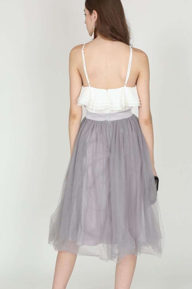 Tulle Skirt in Dove Grey