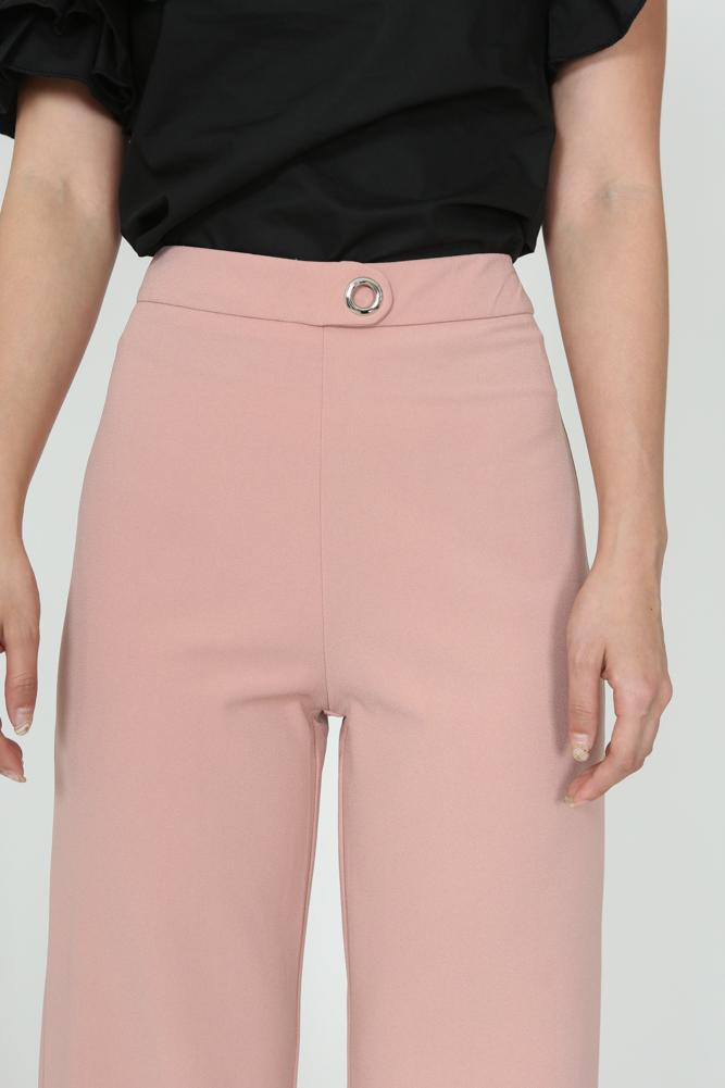 Eyelet Pants in Dusty Pink