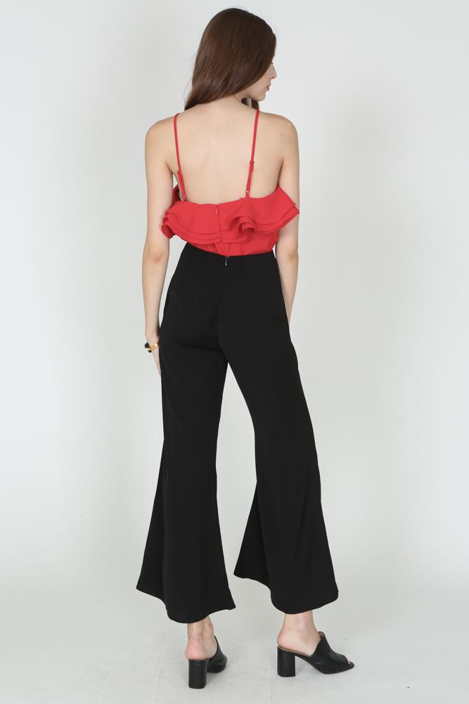 Basic Flare Pants in Black