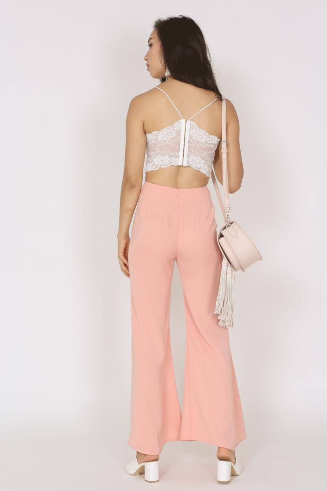 Basic Flare Pants in Blush