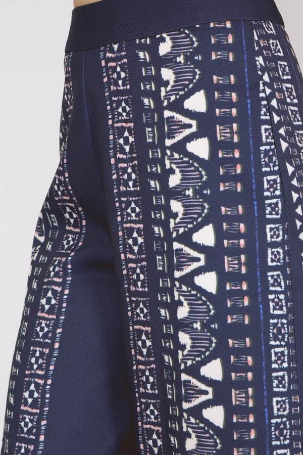 Tribal Print Culottes in Blue