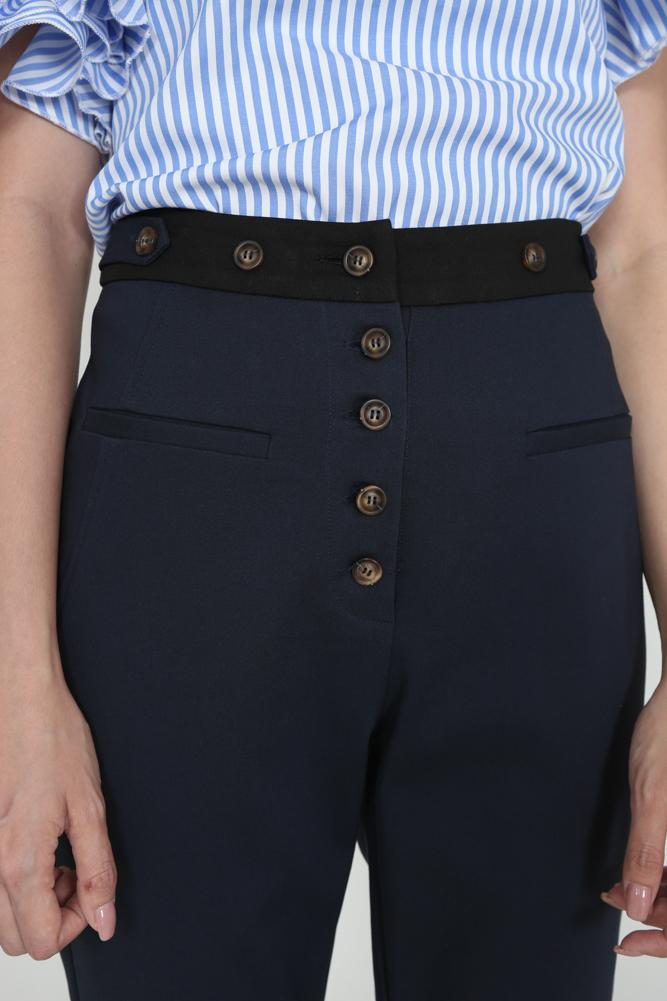 Buttoned Trousers in Navy - Arriving Soon
