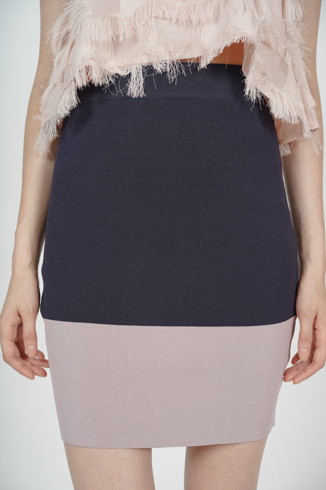 Contrast Bandage Skirt in Midnight Mauve - Arriving Soon