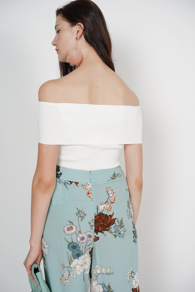 Overlay Crop Top in Off White