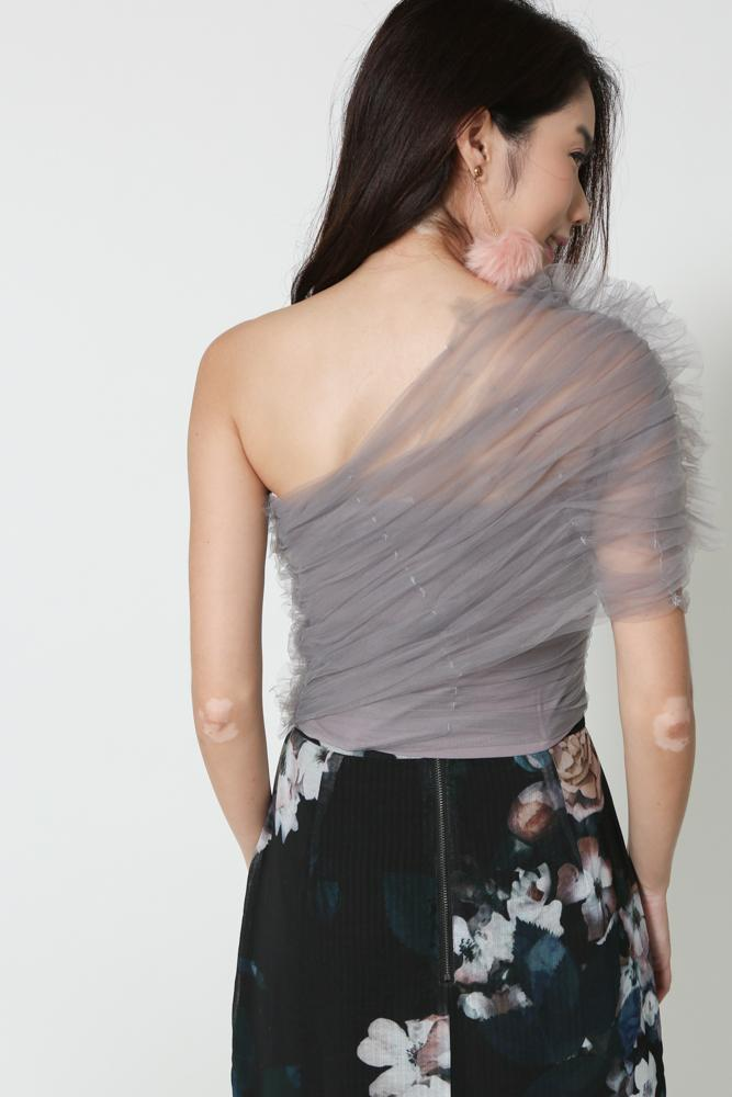 Tulle Toga Top in Moonstone