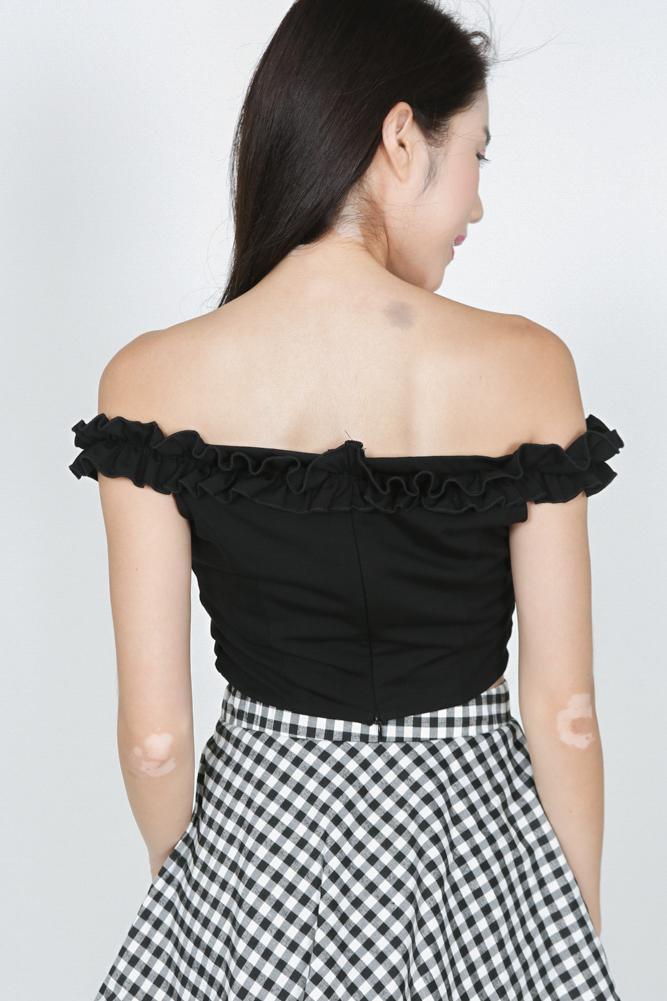 Frilly Ruffle Top in Black
