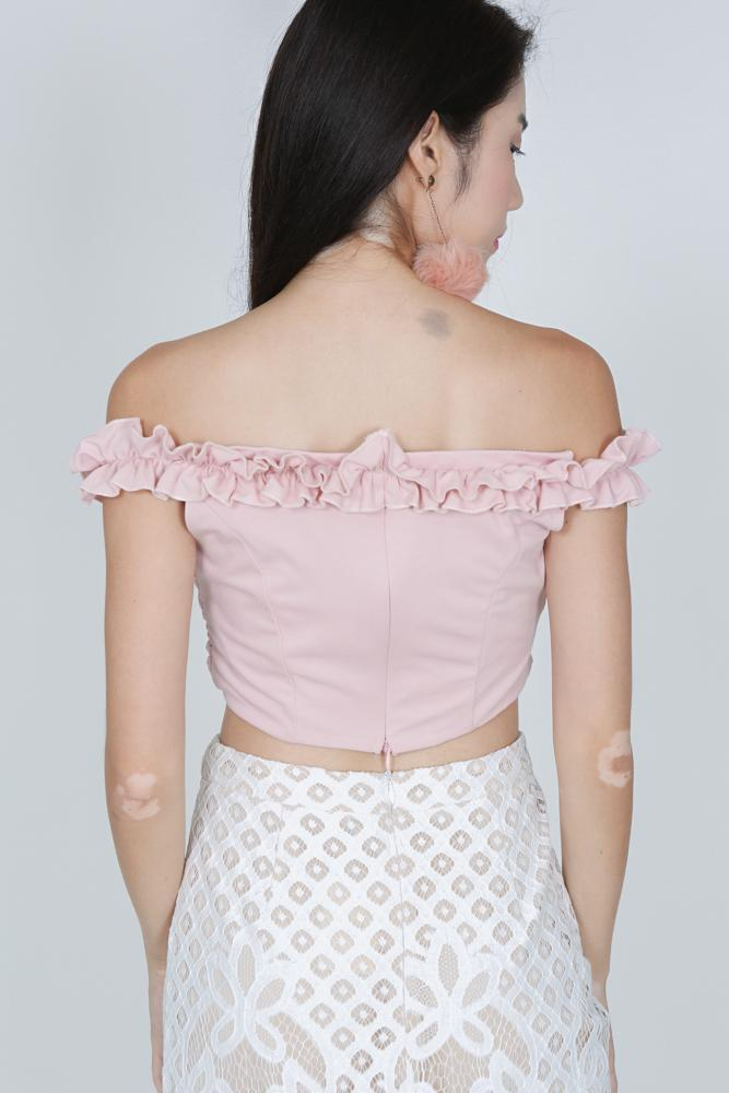 Frilly Ruffle Top in Pink