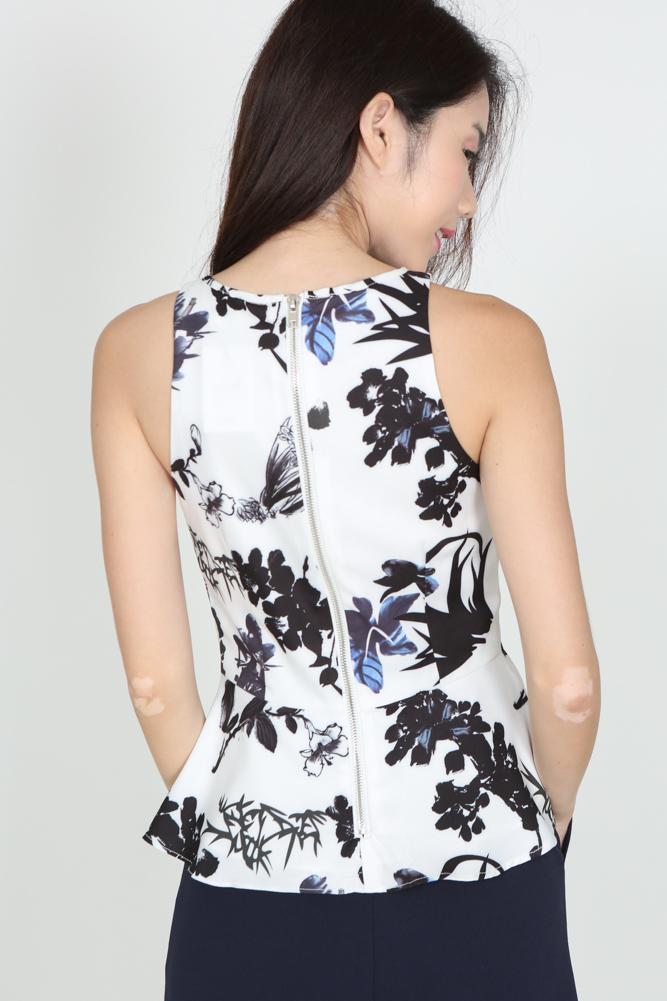Peplum Top in Floral