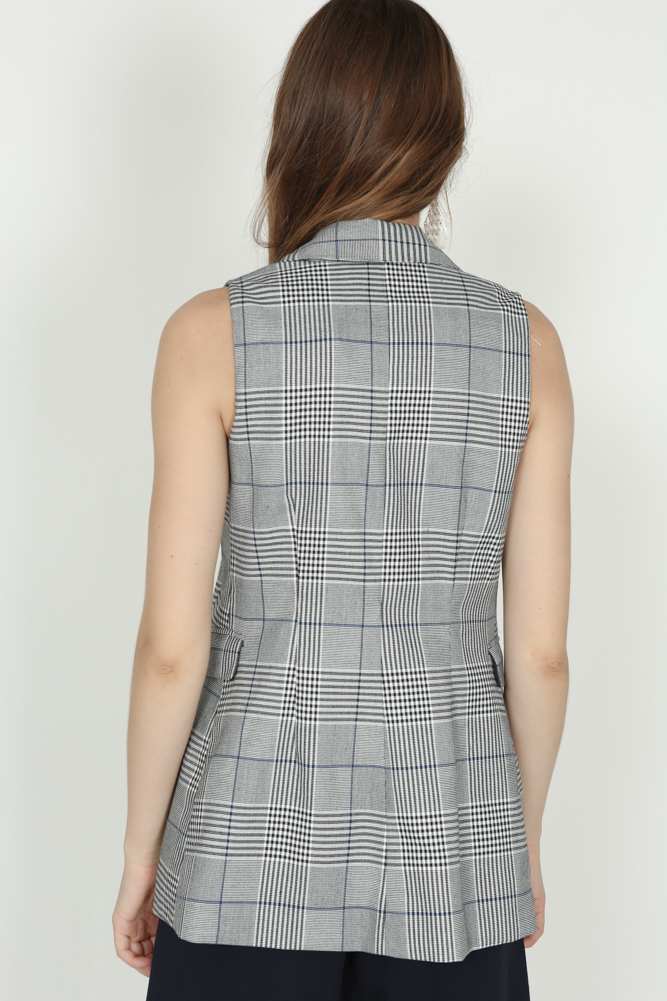 Contemporary Vest in Checks - Arriving Soon