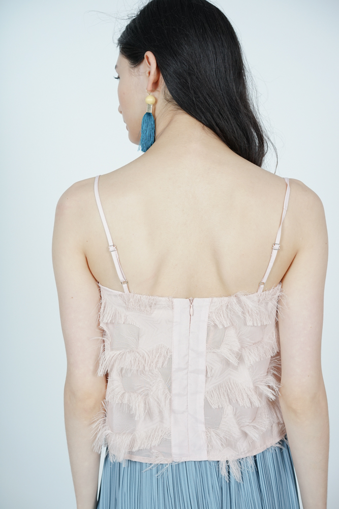 Fringed Cami in Blush - Arriving Soon