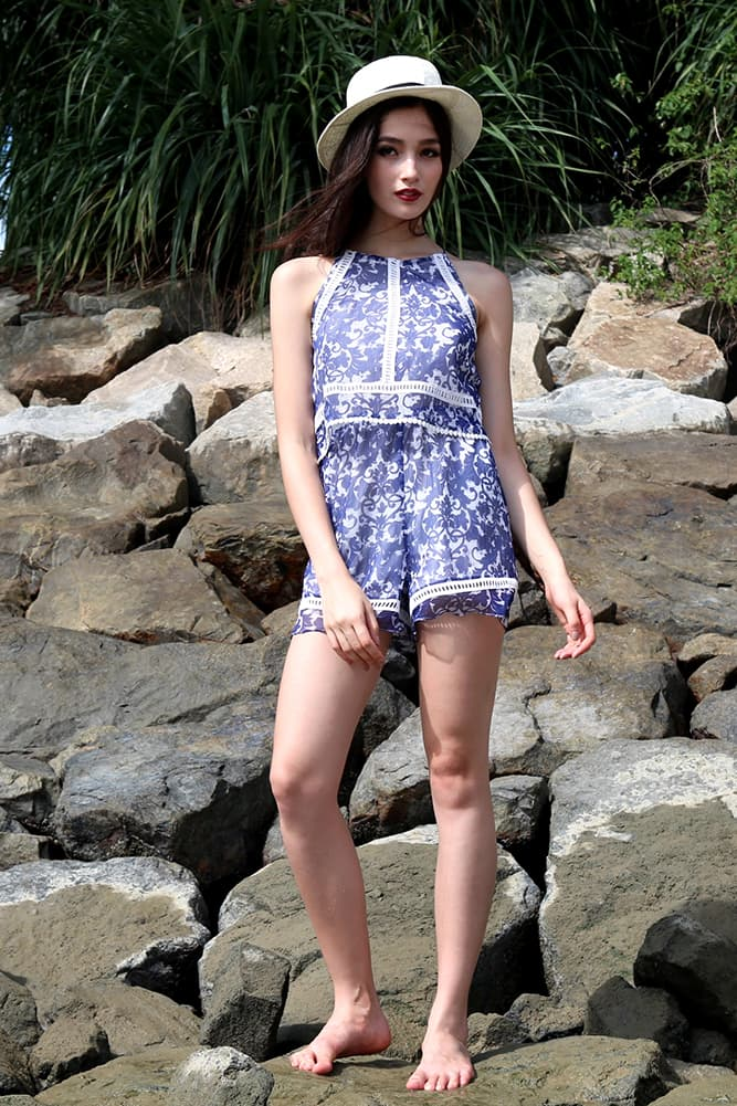 Whitley Romper in Paisley