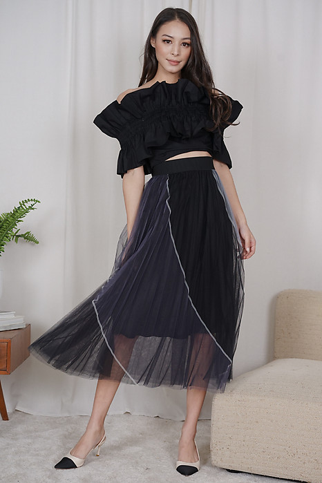 Bonisa Tulle Skirt in Black - Online Exclusive