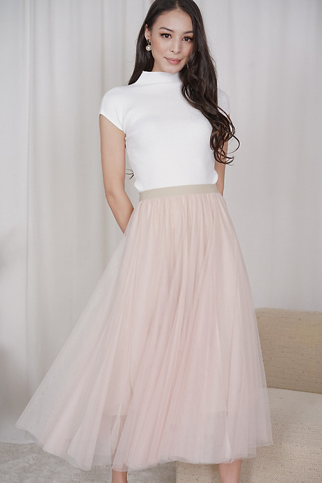 Elden Tulle Skirt in Pink - Online Exclusive