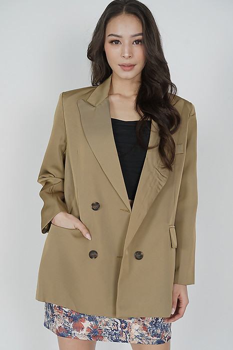 Jerome Blazer Jacket in Khaki - Online Exclusive