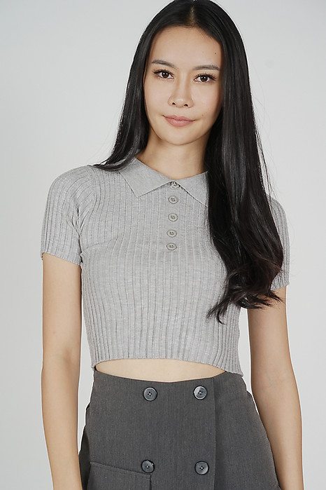 Eryin Top in Grey - Online Exclusive