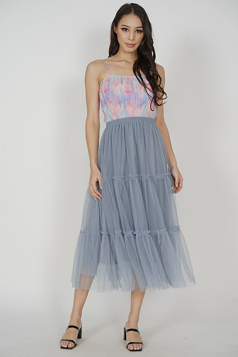 Meisa Maxi Skirt in Light Blue - Online Exclusive