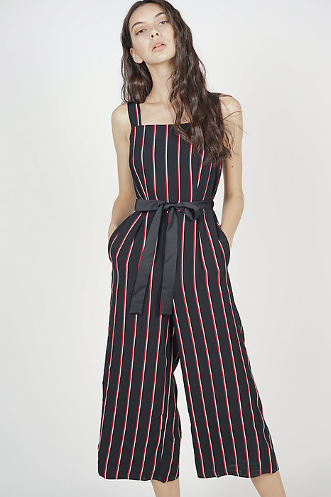 ee342a45187 Helaine Jumpsuit in Black Stripes