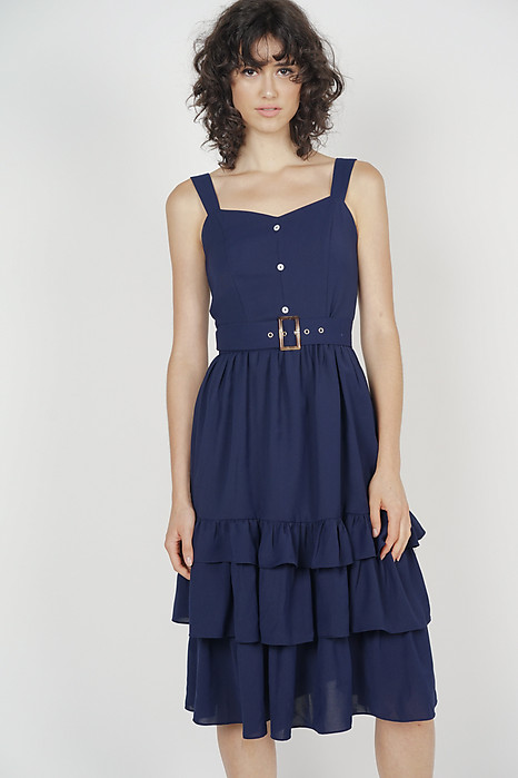 c00fd80a5e089e Odette Ruffled Dress in Midnight