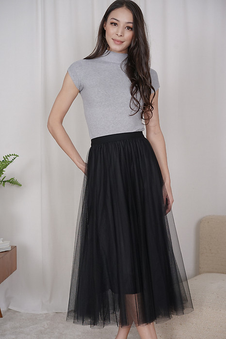 Elden Tulle Skirt in Black - Online Exclusive