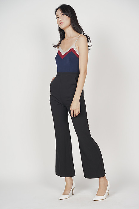 40a98ace232a Delxie Contrast Jumpsuit in Black