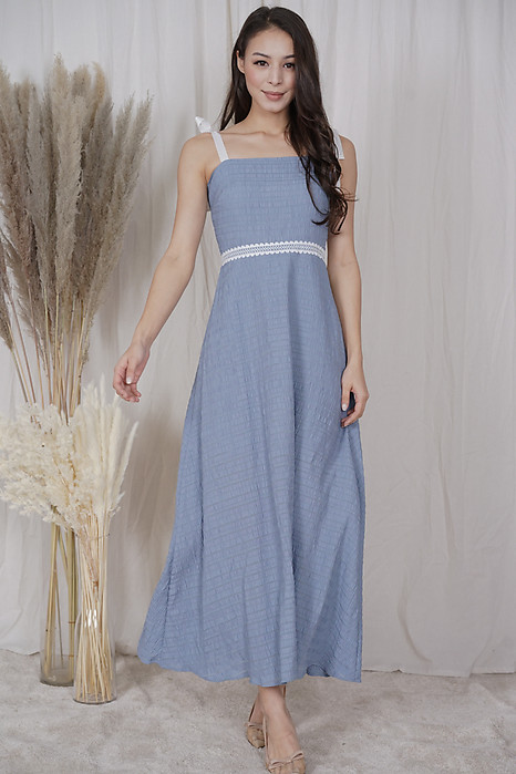 Royana Maxi Dress in Ash Blue - Arriving Soon