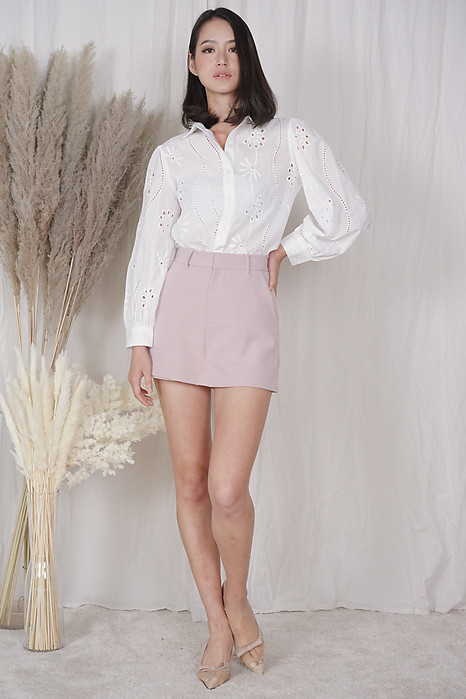 Britni Eyelet Top in White - Arriving Soon