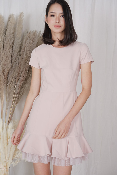 Tulsa Ruffled-Hem Dress in Pink - Arriving Soon