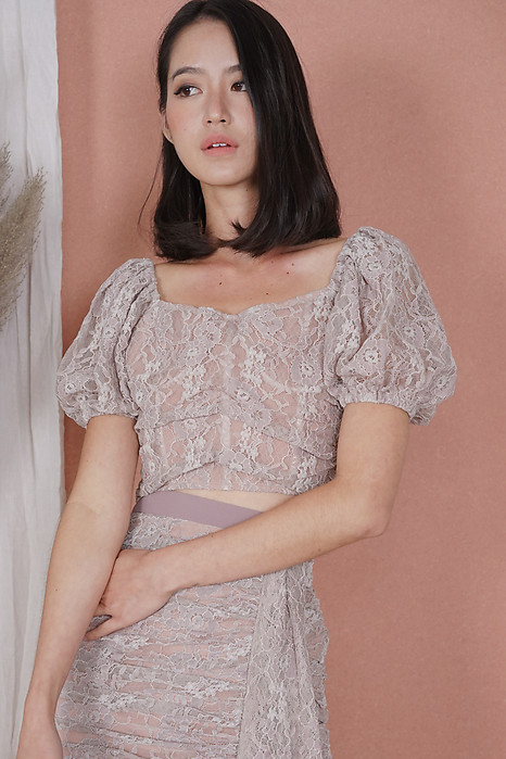Armin Lace Top in Mauve Pink - Arriving Soon