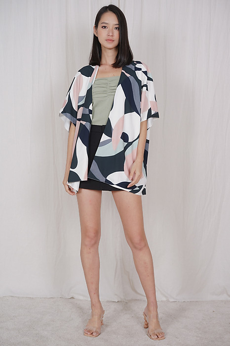 Jonas Kimono Jacket in Abstract - Arriving Soon