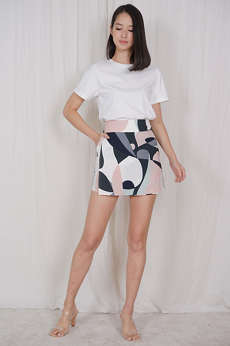 Rozea Overlay Skorts in Abstract - Arriving Soon