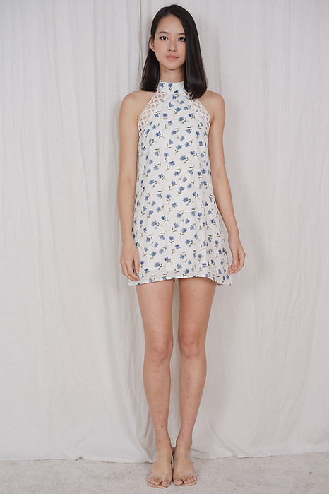 Marcy Dress Romper in White - Arriving Soon