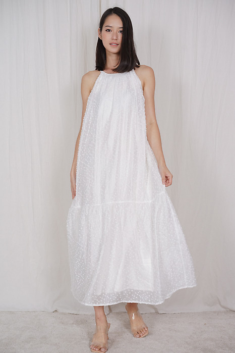 Tashla Halter Dress in White - Arriving Soon