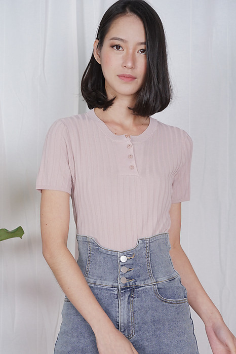 Kusha Buttoned Top in Pink - Online Exclusive