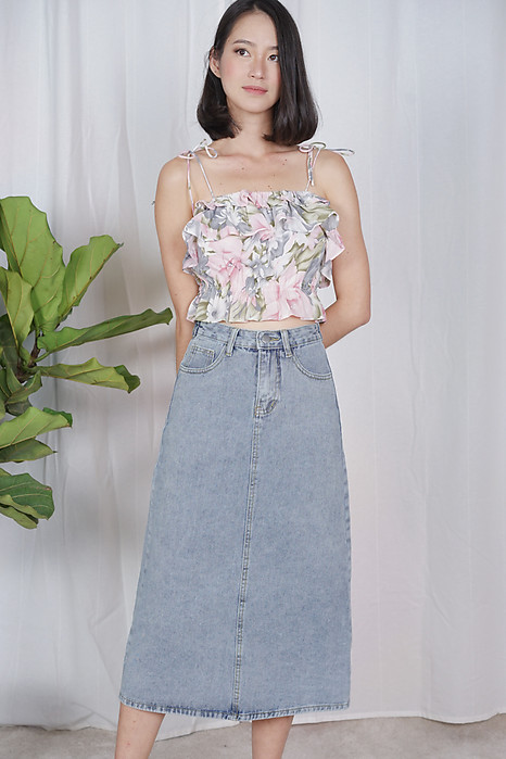 Nurma Denim Skirt in Light Blue - Online Exclusive