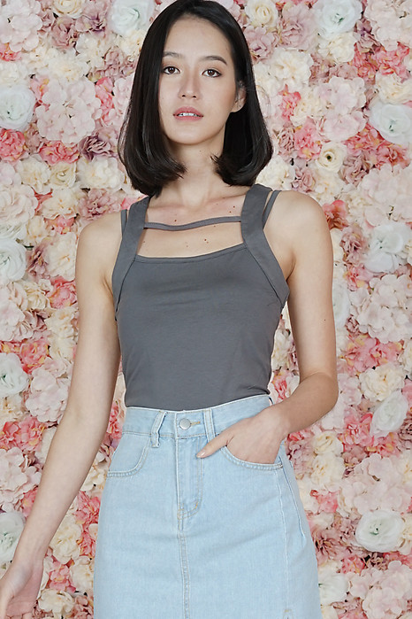 Rayna Top in Grey - Online Exclusive